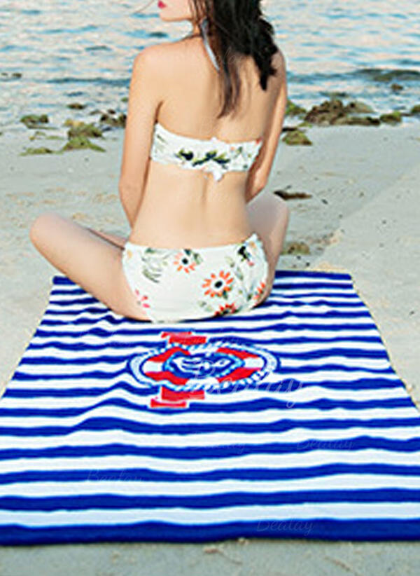 Striped/Retro/Vintage/Geometric Comfortable/Multi-functional/Sand Free/Quick Dry Beach Towel