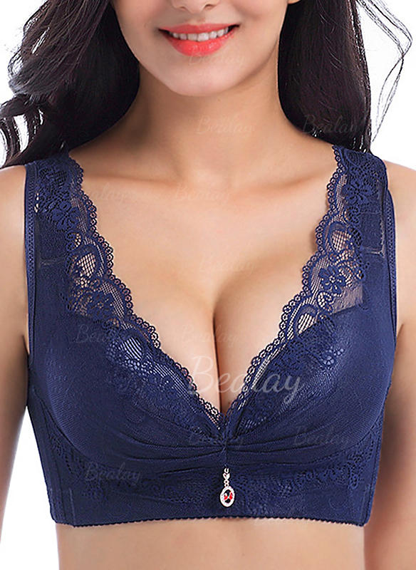Lace Wireless Push Up Padded Bra