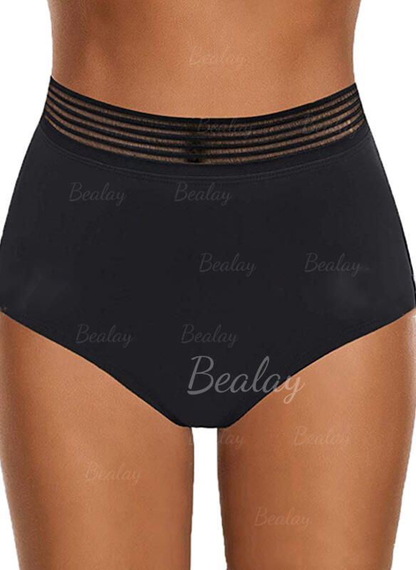Solid Color Bottom Strapless Classic Bottoms Swimsuits