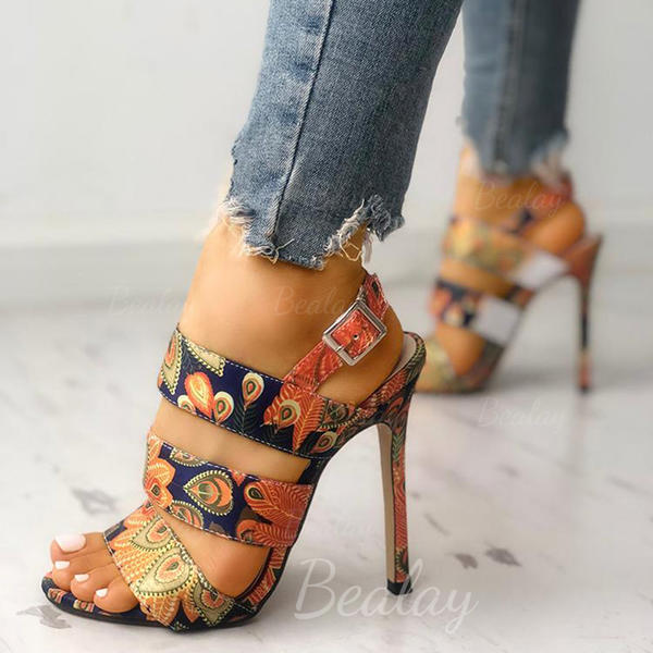 Women's PU Stiletto Heel Sandals With Buckle shoes