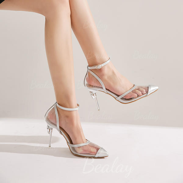 Women's Leatherette Stiletto Heel Sandals Slingbacks shoes