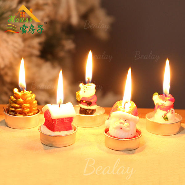 Christmas Candles Wax Holiday Decoration