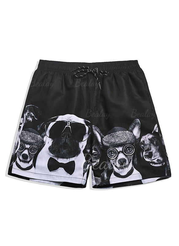 Heren Print bekleed Board Shorts
