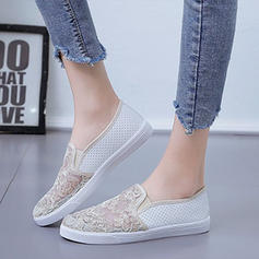 Women's Fabric Casual Outdoor With Stitching Lace shoes