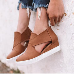 Women's PU Wedge Heel Closed Toe With Zipper shoes