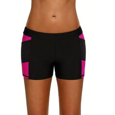 Splice color Bottom Strapless Casual Bottoms Swimsuits