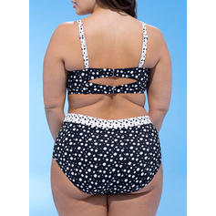 Dot Strap Sexy Plus Size Bikinis Swimsuits
