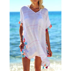 Tassels V-Neck Elegant Bohemian Cover-ups Swimsuits