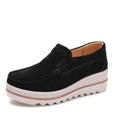 Women's Suede Low Heel Flats With Others shoes