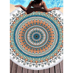 Tassel/Bohemia/Elephant/Animal Print Oversized/round/Multi-functional/Sand Free/Quick Dry/Animal Designed Beach Towel