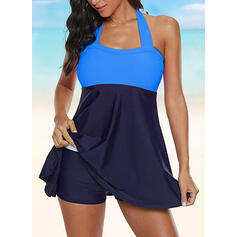 High Waist Strapless Casual Tankinis Swimsuits