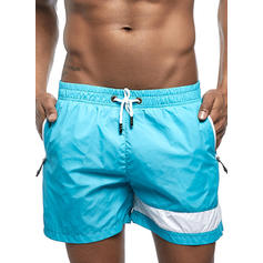 Men's Splice color Swim Trunks