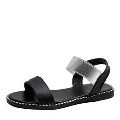 Women's Leatherette Flat Heel Sandals With Elastic Band shoes