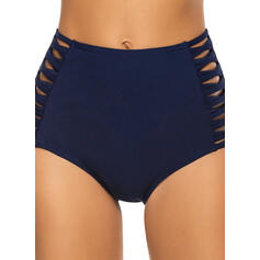 Solid Color Hollow Out Sexy Vintage Bottoms Swimsuits