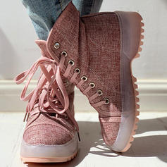 Women's Denim Casual Outdoor With Lace-up shoes