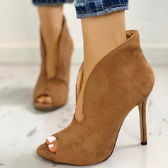 Women's PU Stiletto Heel Peep Toe With Others shoes