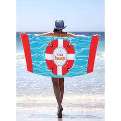 Color Block/Bohemia/Leaves/Colorful Light Weight/Multi-functional/Sand Free/Quick Dry Beach Towel