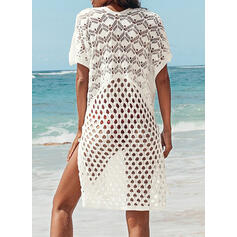 Print Hollow Out V-Neck Classic Cover-ups Swimsuits