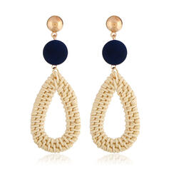 Unique Exquisite Stylish Alloy Textile Earrings Beach Jewelry