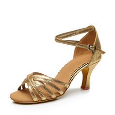 Women's Latin Heels Sandals Leatherette With Ankle Strap Latin