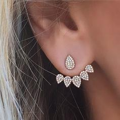 Beautiful Alloy Rhinestones With Rhinestone Ladies' Fashion Earrings