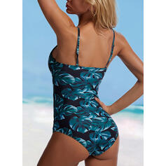 Print Strap Sexy One-piece Swimsuits