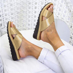 Women's PU Wedge Heel Slippers With Others shoes