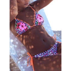 Floral Thong Micro Halter Sexy Bikinis Swimsuits