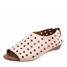 Women's Leatherette Flat Heel Flats With Hollow-out shoes