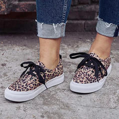 Women's Canvas Casual Outdoor With Animal Print Lace-up shoes