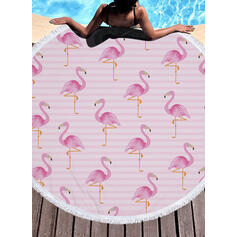 Retro/Vintage/Tassel/Bohemia/Animal Print Light Weight/Multi-functional/Colorful/Sand Free/Quick Dry/Animal Designed Beach Towel
