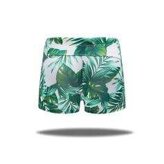 Men's Leaves Lined Padded Swim Trunks