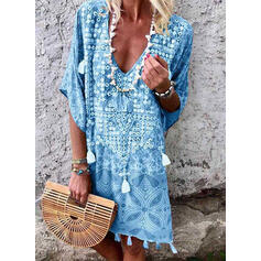 Tassels V-Neck Vintage Boho Cover-ups Swimsuits