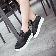 Women's Leatherette Casual Outdoor With Lace-up shoes