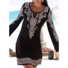 Floral Print Strap Round Neck Sexy Boho Cover-ups Swimsuits