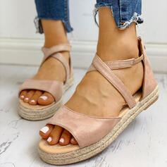 Women's PU Flat Heel Sandals Peep Toe With Others shoes