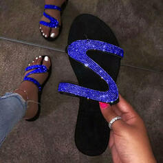 Women's PU Flat Heel Slippers With Sequin shoes
