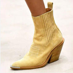Women's PU Chunky Heel Pumps Boots Mid-Calf Boots With Others shoes