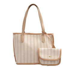 Elegant/Stripe/Bohemian Style/Braided/Super Convenient Tote Bags/Beach Bags/Bucket Bags