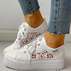 Women's Canvas Casual Outdoor With Stitching Lace Lace-up shoes