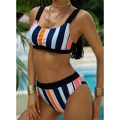 Stripe Low Waist Strap Beautiful Cute Bikinis Swimsuits
