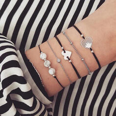 Shell Alloy Bracelets Beach Jewelry (Set of 5)