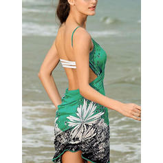 Floral String Strap Elegant Cover-ups Swimsuits
