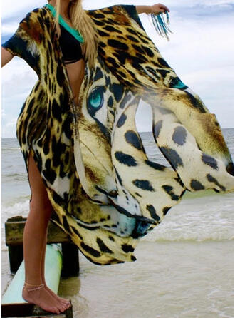 Animal Print V-Neck Beautiful Attractive Eye-catching Cover-ups Swimsuits