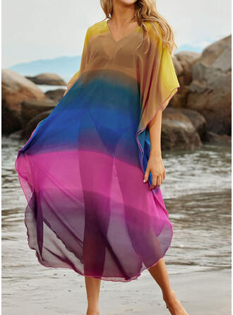 Colorful Print Strap Sexy Exquisite Cover-ups Swimsuits