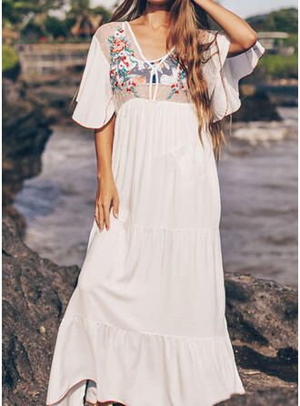Print V-Neck Attractive Eye-catching Amazing Cover-ups Swimsuits