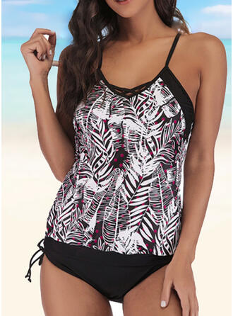 Leaves Print Strap Casual Amazing Exquisite Novelty Luxury Tankinis Swimsuits