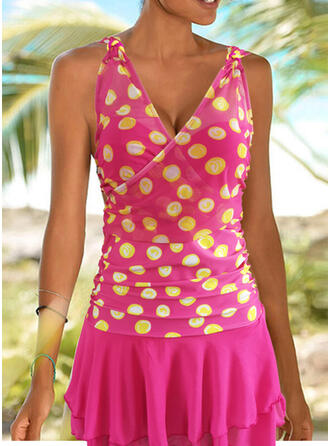 Dot Print Strap Amazing Exquisite Novelty Luxury Tankinis Swimsuits