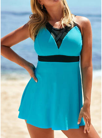 Solid Color Strap Sexy Swimdresses Swimsuits