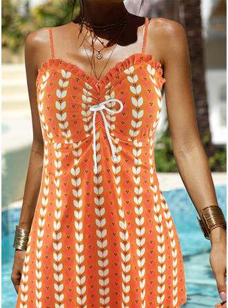 Leaves Print Strap Amazing Exquisite Novelty Luxury Tankinis Swimsuits